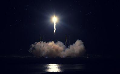 Rocket launcher stations, night