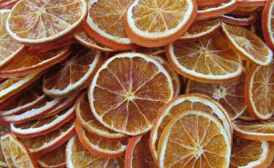 Orange dried fruit snacks decorations christmas
