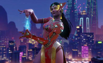 Qipao symmetra, overwatch video game, girl