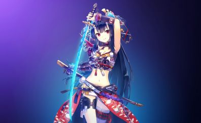 Hot anime girl with sword