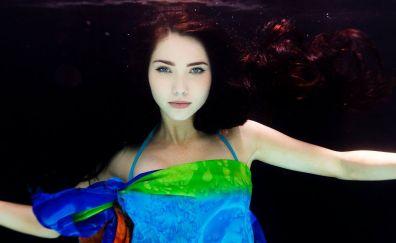Jessica Green, underwater, celebrity