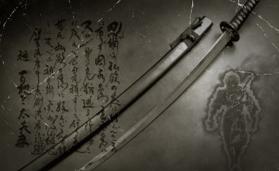Katana, swords of ninjas, samurai