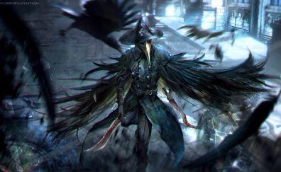 Bloodborne crow dagger warrior game