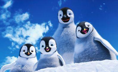 Happy Feet 2 movie, penguin family