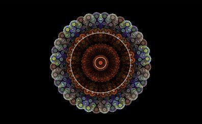 Fractal, mandala, circles, colorful