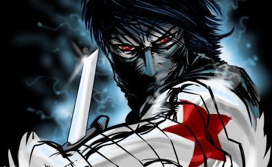 Dark, art, winter soldier, marvel comics