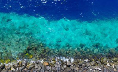 Coast, sea, rocks, aerial view