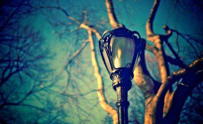 Street lamp daylight