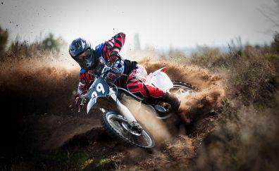 Motocross, race bike
