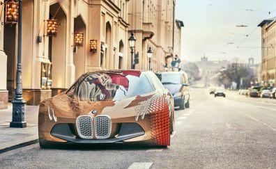 BMW Vision Next 100 car on road