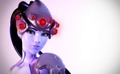 Widowmaker, overwatch, gaming, face