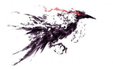 Crow bird, Raven, bird, art