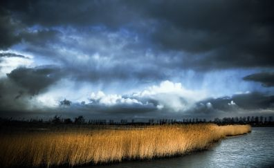 Cloudy sky, landscape