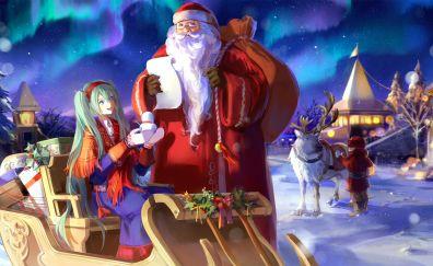 Hatsune Miku, Xmas, Santa Claus