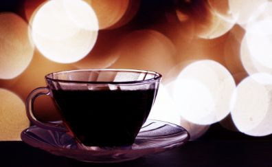 Coffee cup, cup, bokeh