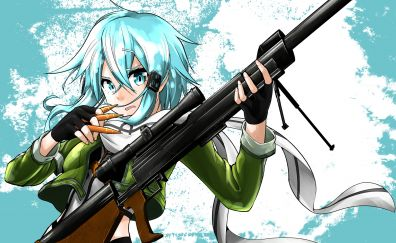 Asada shino, sinon with gun anime