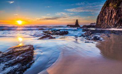 Jones beach in sunset
