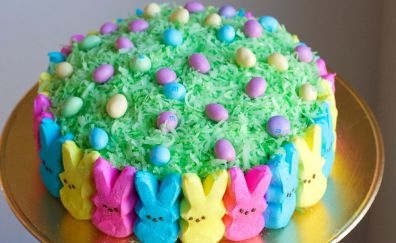 Easter, cake, bunny, holiday, cooking