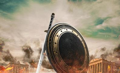 Wonder Woman sword and shield artwork
