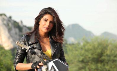 Priyanka Chopra on bike
