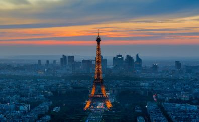 Sunset of Paris, Eiffel tower