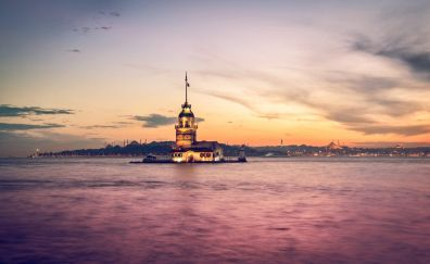 Maiden's Tower, Istanbul, sunset