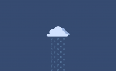 Cloud of binary digits, minimal, abstract