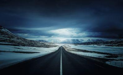 Iceland roads, highway