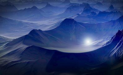 Fantasy, planet surface, landscape