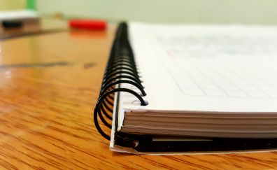 Notebook, paper, close up