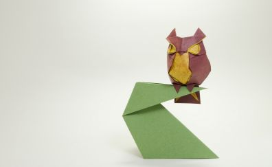 Owl of papers artwork