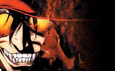 Sunglasses, smile, Alucard, Hellsing