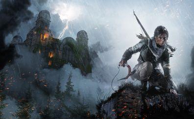 Rise of the Tomb Raider, 2015 game, Lara Croft, castle