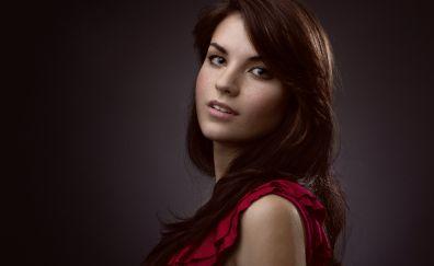 Brunette, model, Sarah Tucker