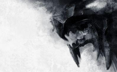 Game of thrones, stark logo, artwork