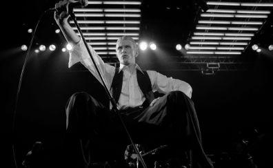 David Bowie, musician, monochrome