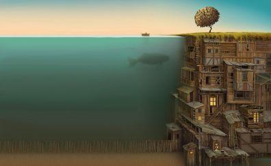 Sea whale fantasy artwork