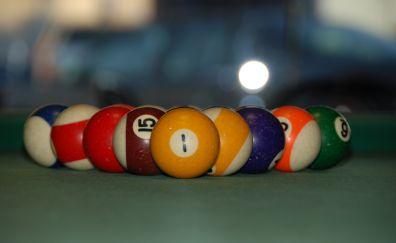 Billiard balls, sports