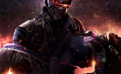 Soldier: 76, Overwatch, video game, D.VA