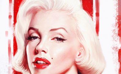 Marilyn Monroe, face, fan art