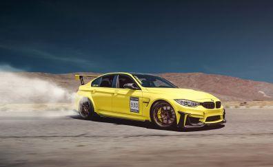 BMW M3, sports car, drift