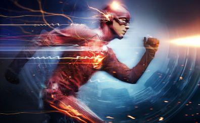 Grant Gustin as The flash in dc comics wallpaper