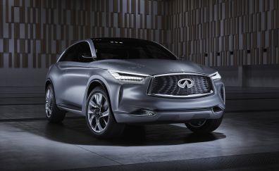 INFINITI QX50 Crossover, gray car, 4k