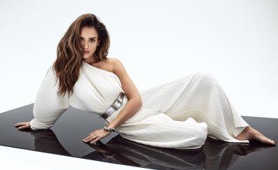 Jessica Alba, Mane addicts 2017, white dress