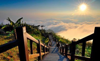 Stairs skyline
