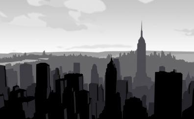 Nyc skyline, artwork