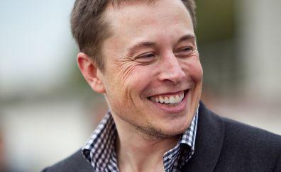 Elon musk's smile face