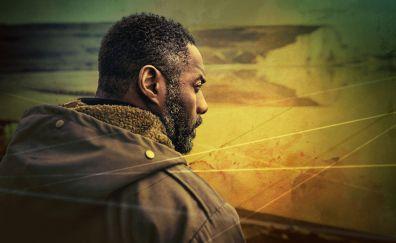 Luther TV show, Idris Elba, face