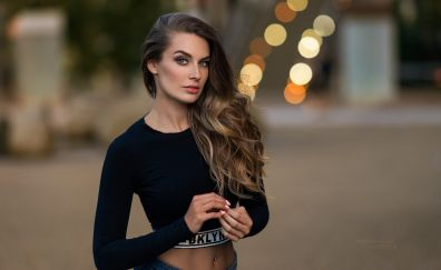 Lucie Syrohova, model, girl, outdoor, bokeh
