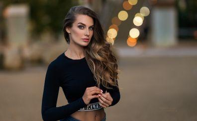 Lucie Syrohova, model, girl, outdoor, bokeh